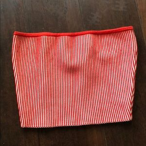 Red and White Bandeau